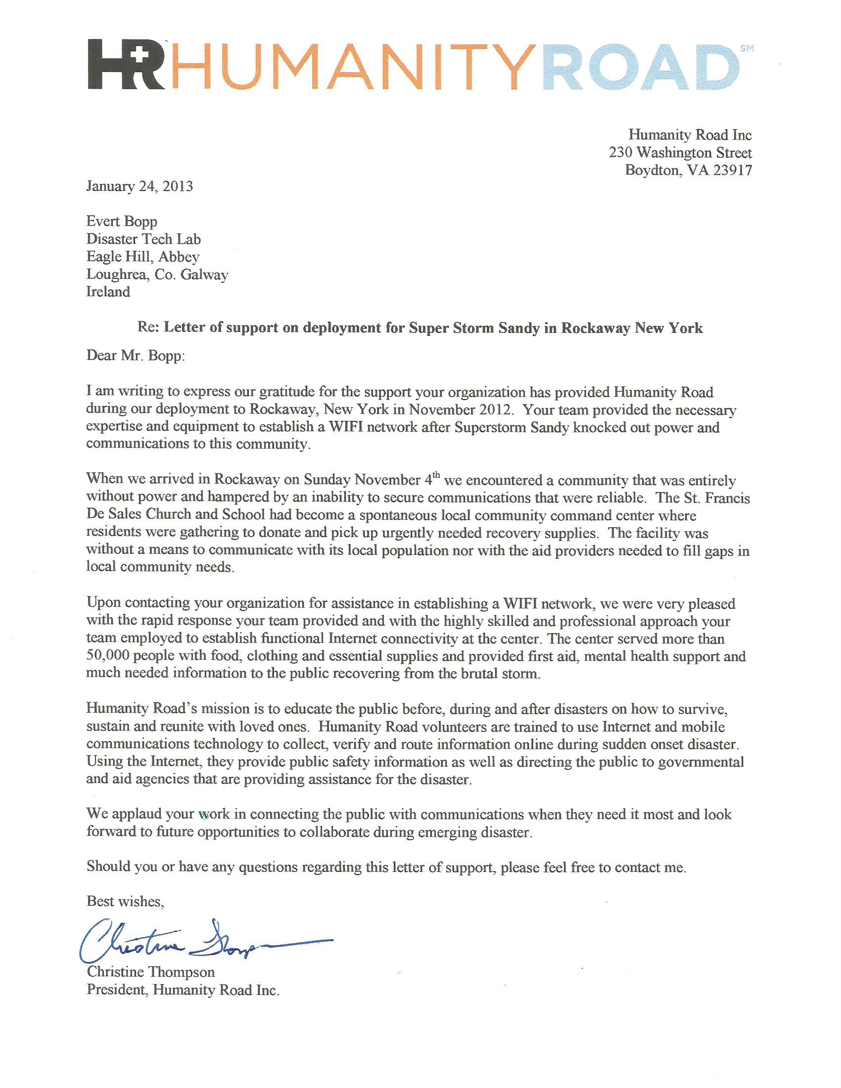 Jan 24 2013 E Bopp Letter of Support