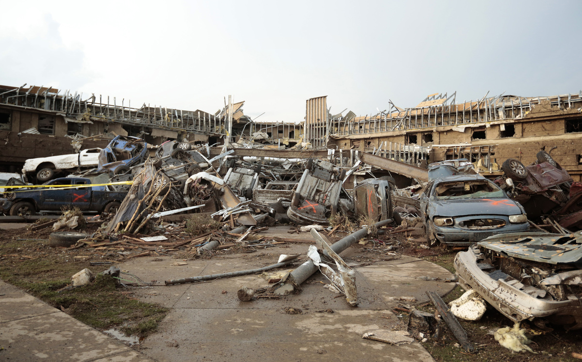 This picture of the Moore Medical center shows the extent of the devastation.
