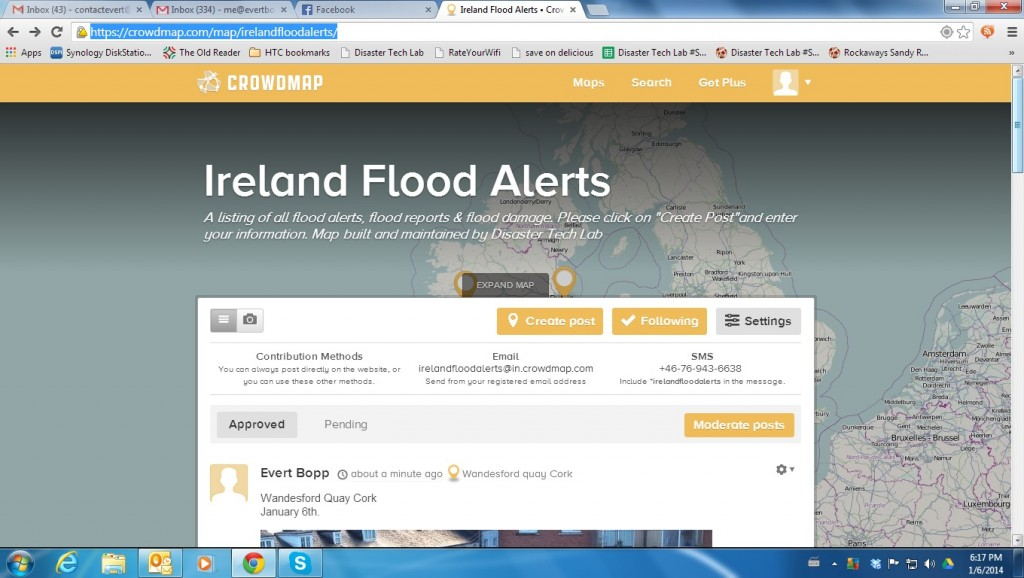 Ireland flood crowdmap